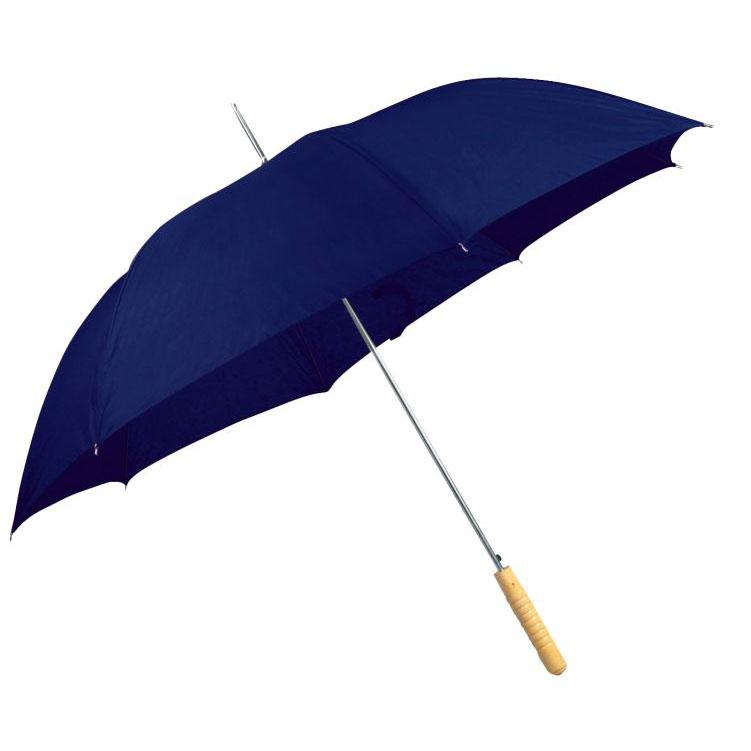 Tmavě-modrý vystřelovací deštník