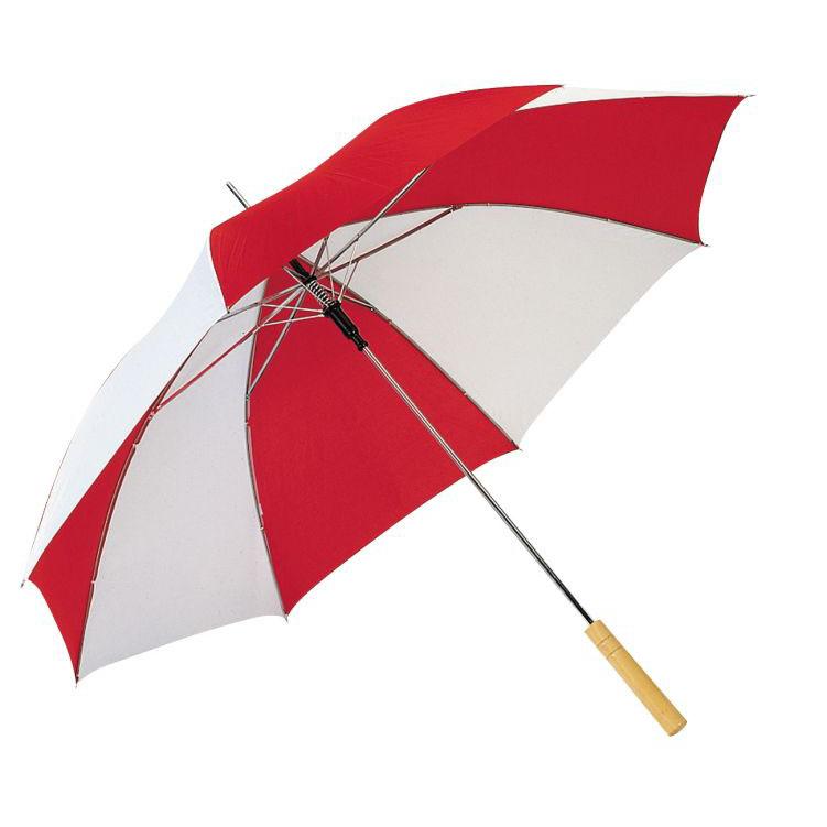 Červeno-bílý deštník