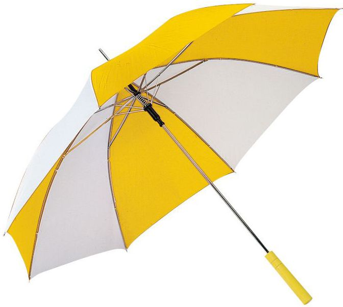 Žluto-bílý deštník