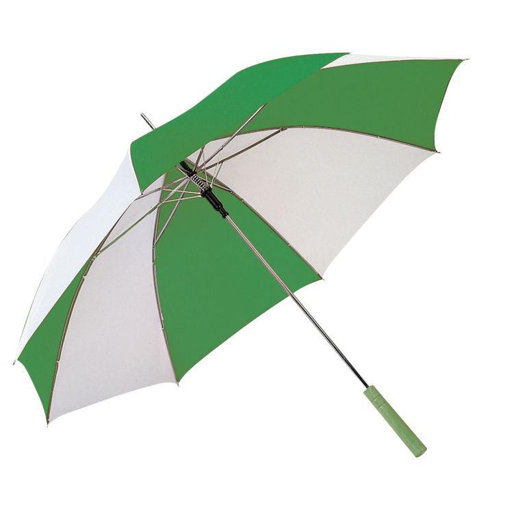 Zeleno-bílý deštník