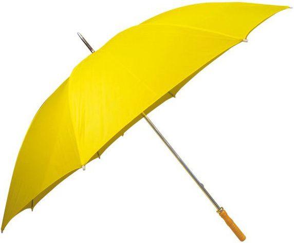 Žlutý klasický velký deštník
