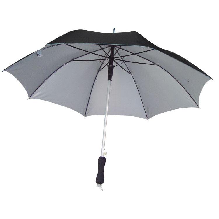 Lehký černý deštník