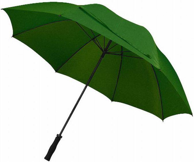Velký tmavě zelený deštník