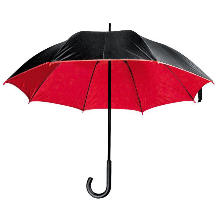 Dvouvrstvý deštník červený
