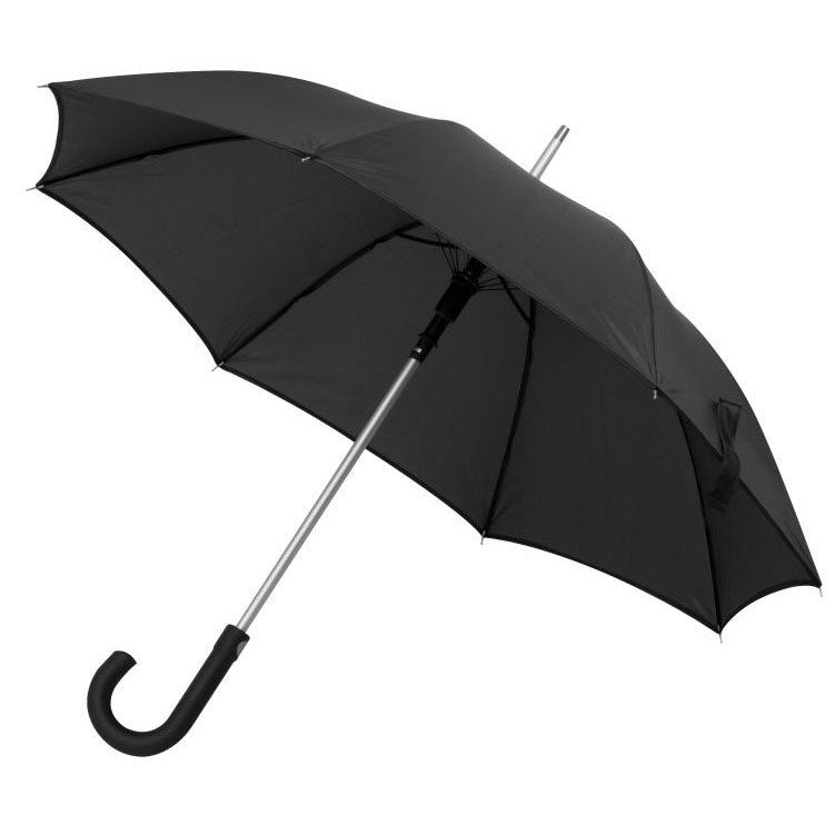 Černý deštník s pogumovanou rukojetí