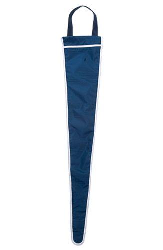 Světle modrý obal na deštník s potiskem