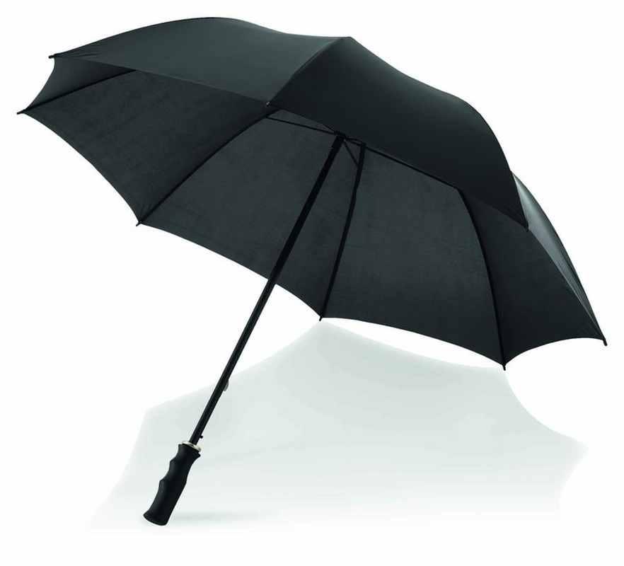 23palc. klasický automatický deštník černý