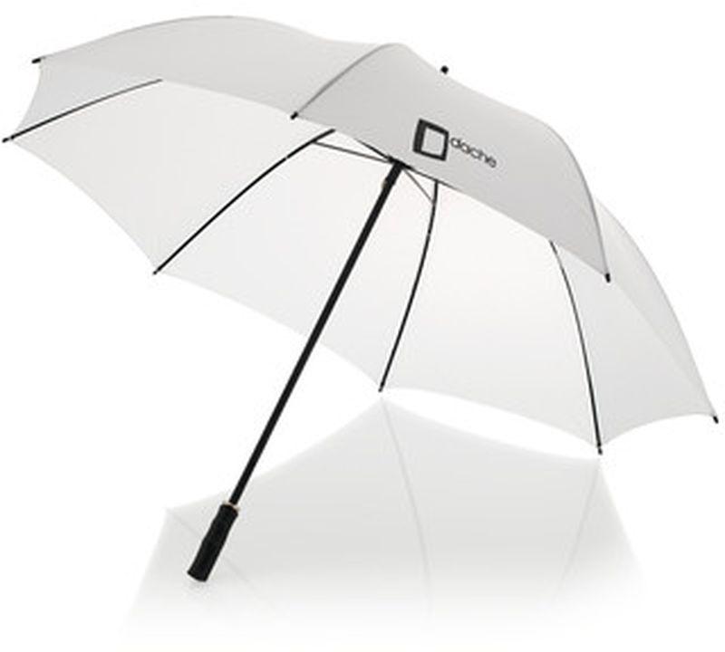 23palc. klasický automatický deštník bílý