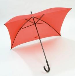 Square čtvercový deštník červený