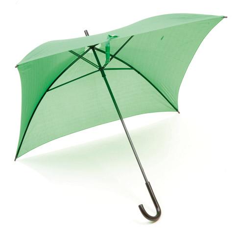 Square čtvercový deštník zelený