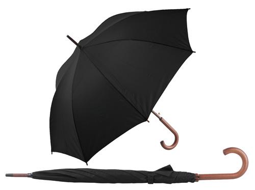 Henderson automatický černý deštník s potiskem