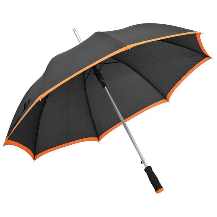 Oranžový automatický deštník