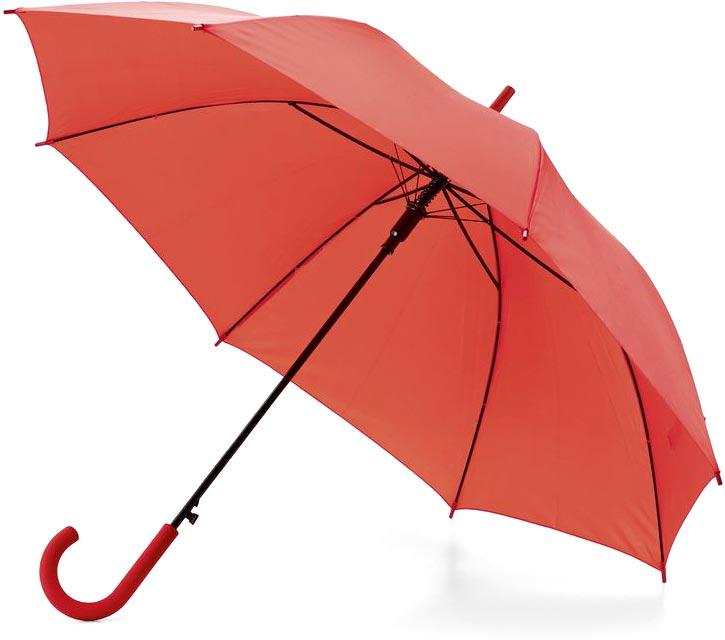Deštník červený s potiskem