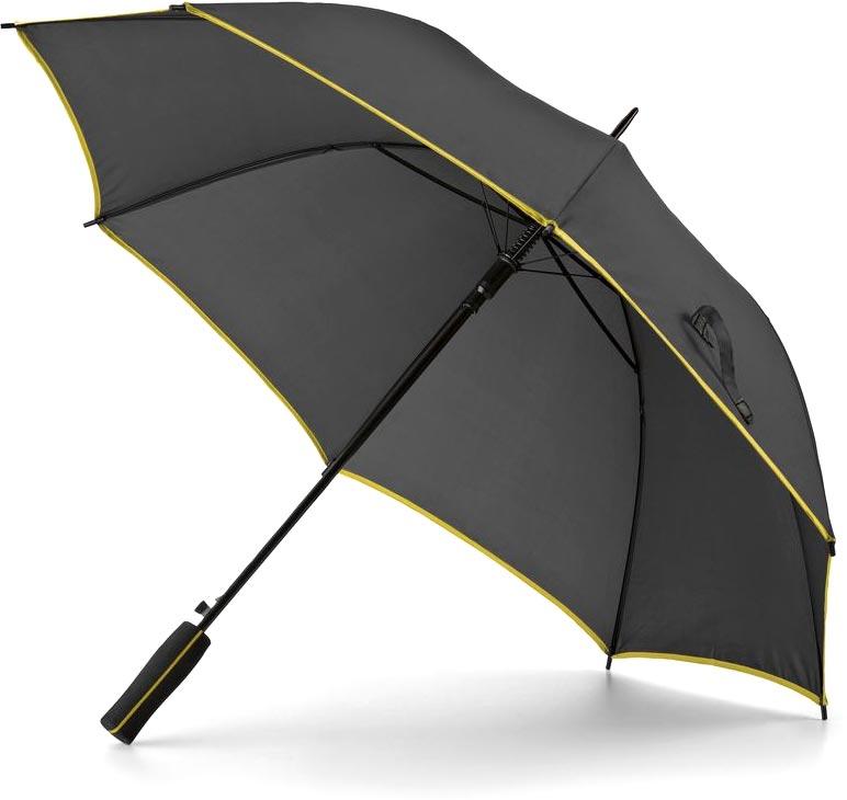 Deštník žlutý s potiskem