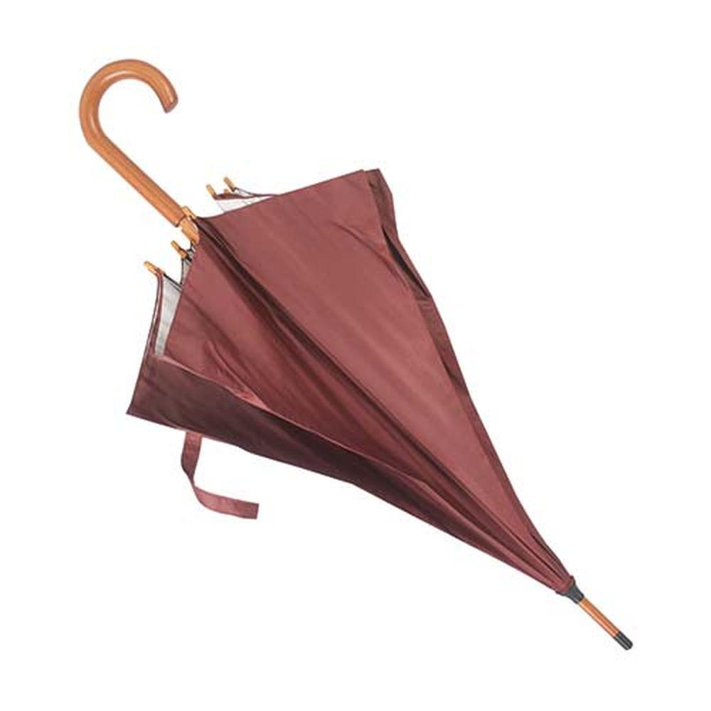 Deštník s dřevěnou rukojetí hnědý