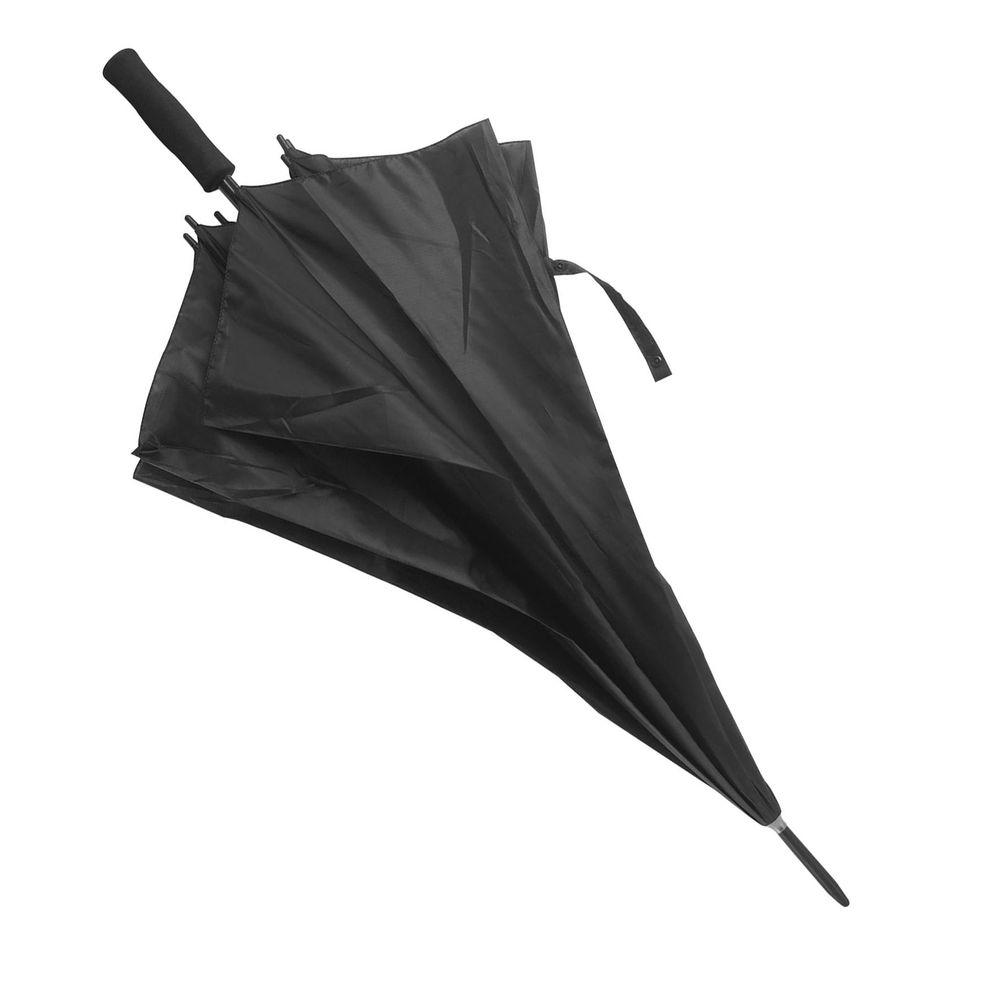 Větruvzdorný deštník černý