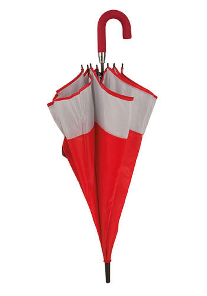 Rodinný deštník bílo-červený