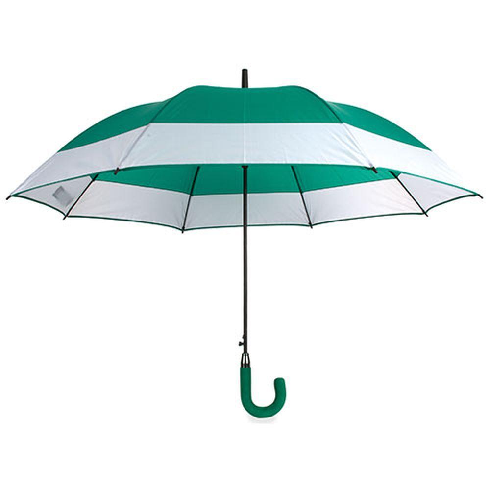 Rodinný deštník bílo-zelený