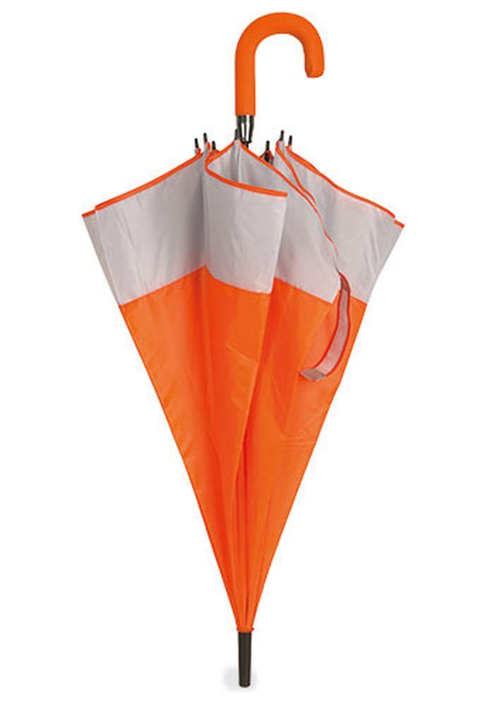 Rodinný deštník bílo-oranžový