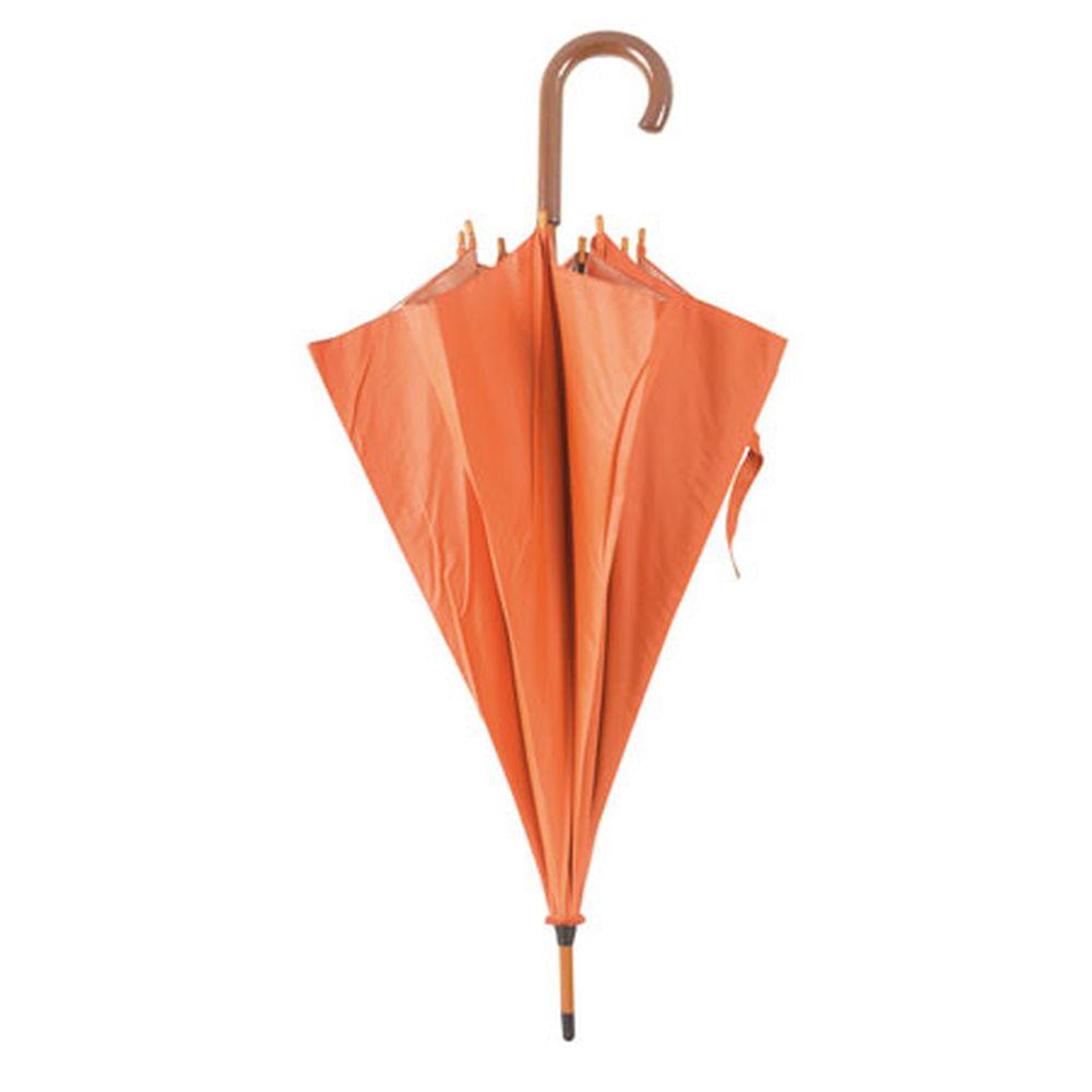 Deštník s dřevěnou rukojetí oranžový