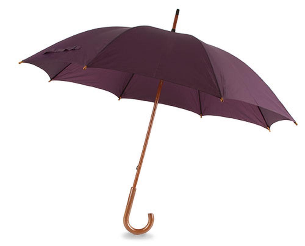 Deštník s dřevěnou rukojetí fialový