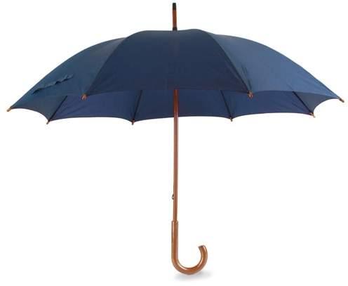Deštník s dřevěnou rukojetí, námořnická modrá