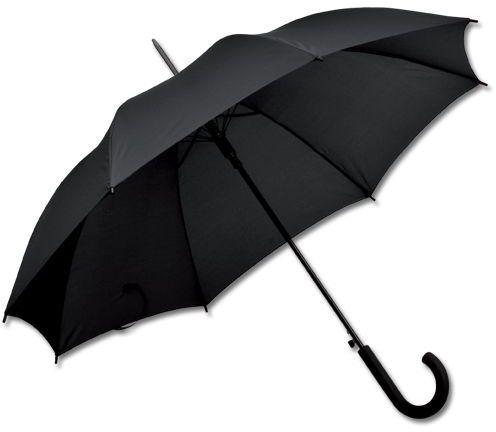 DONALD polyesterový vystřelovací deštník, 8 panelů, černá