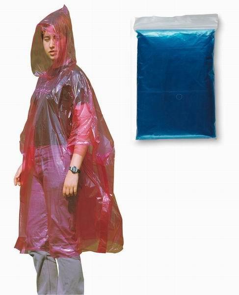 Modrá pláštěnka pončo