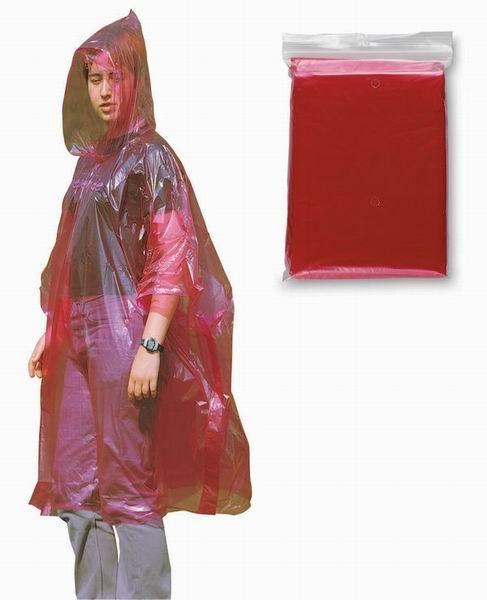 Červená pláštěnka pončo