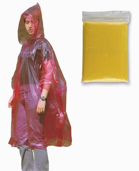 Žlutá pláštěnka pončo