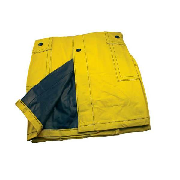 Žluto-modrá oboustranná pláštěna
