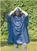 Modrá pončo pláštěnka