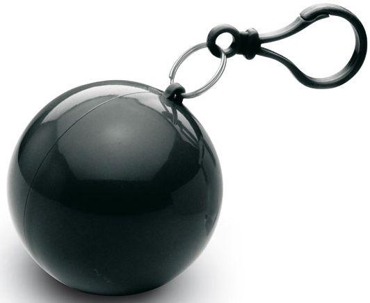 Černé transparentní pončo přívěsek