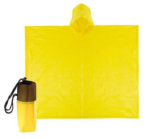 Pončo žlutá pláštěnka
