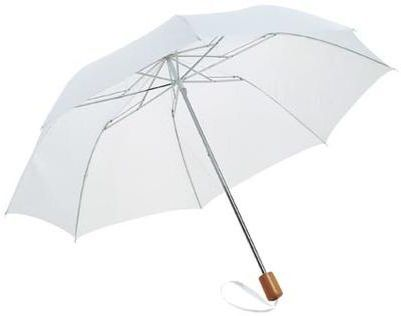 2Sekční deštník 20 palců bílý s potiskem