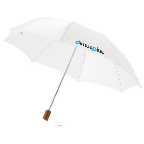 2Sekční deštník 20 palců bílý