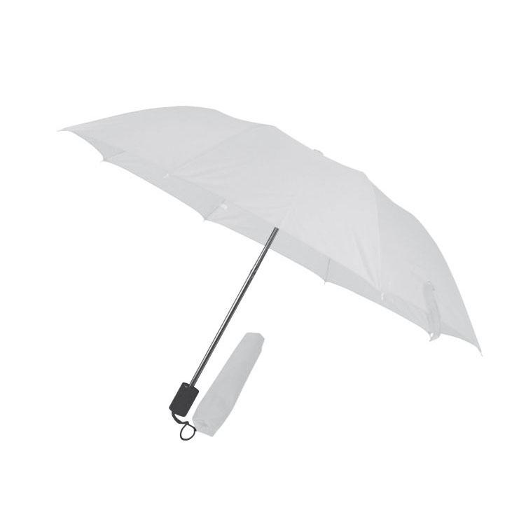Bílý skladný deštník