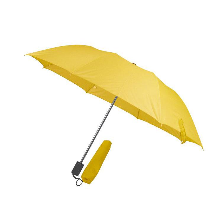 Žlutý skladný deštník