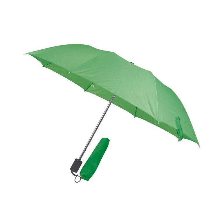 Zelený skládací deštník