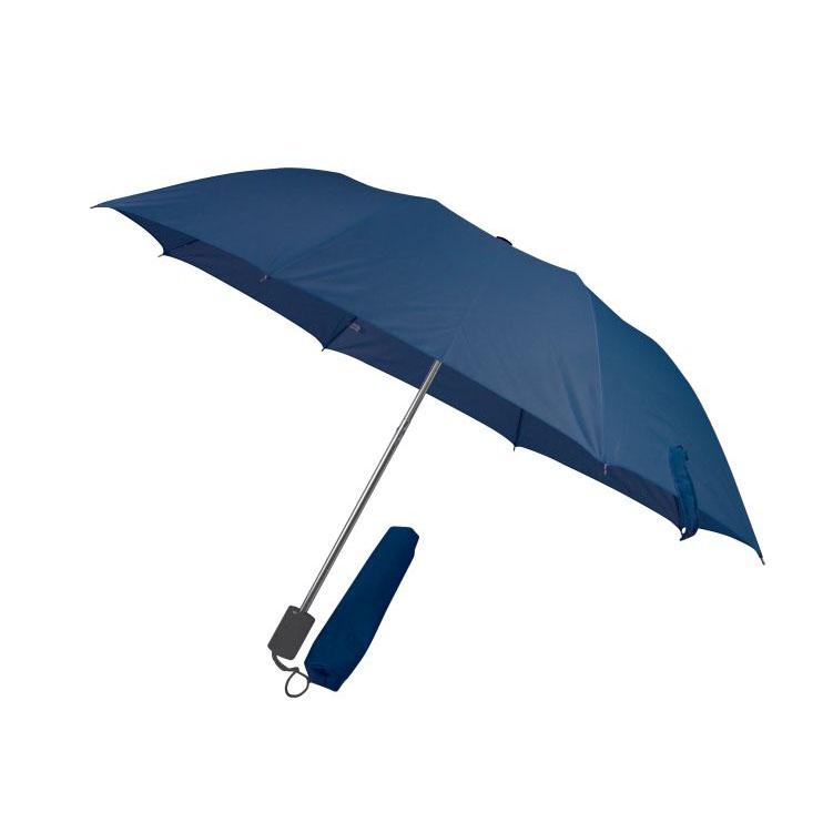 Tmavě modrý skládací deštník