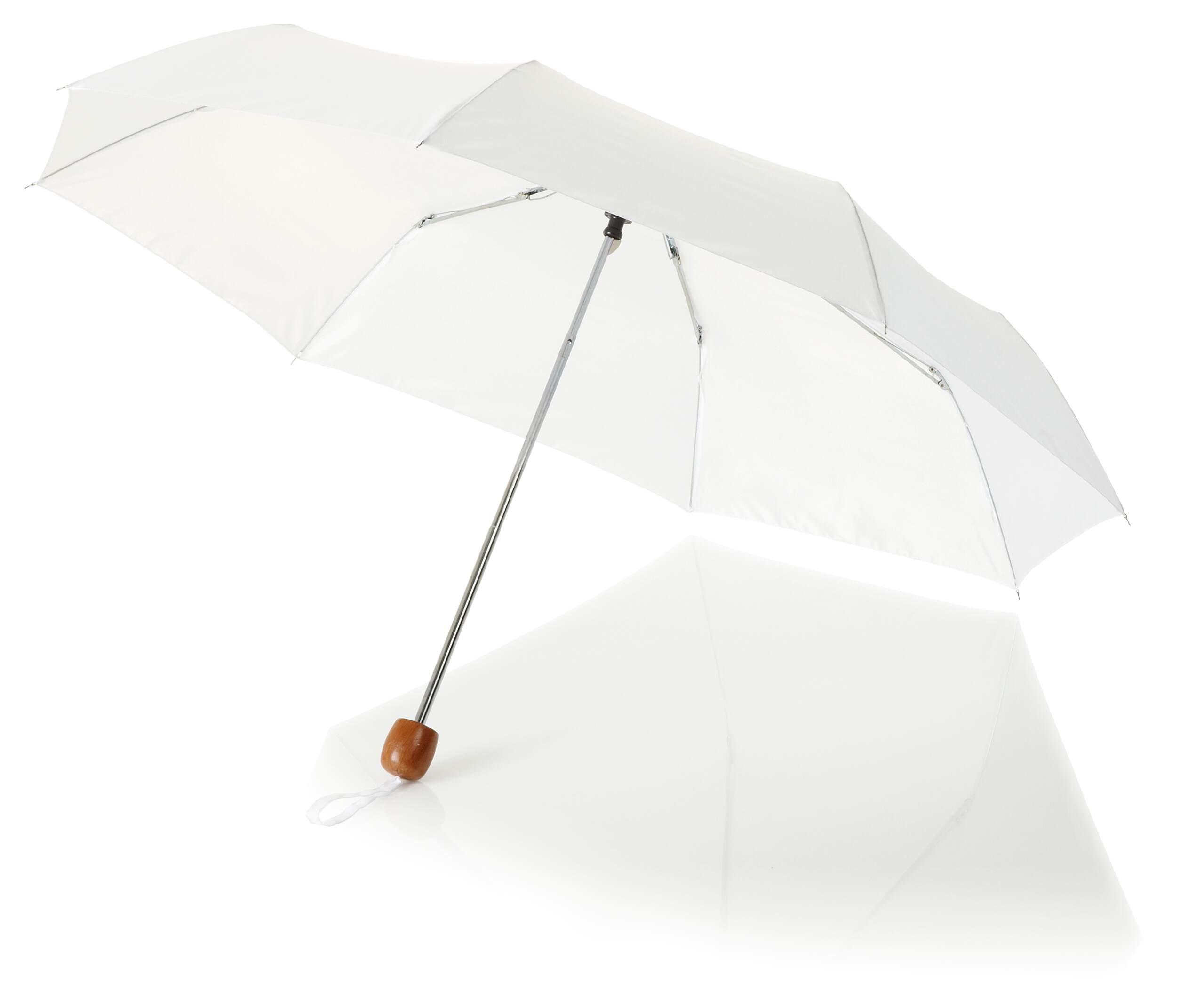 21,5palcový bílý 3sekční deštník