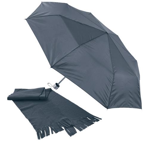 Bitem černá sada deštníku a šály