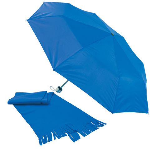 Bitem modrá sada deštníku a šály