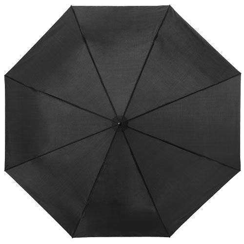 21,5palcový černý deštník 3sekční