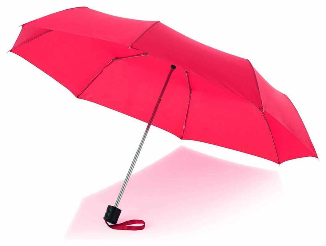 21,5palcový červený deštník 3sekční