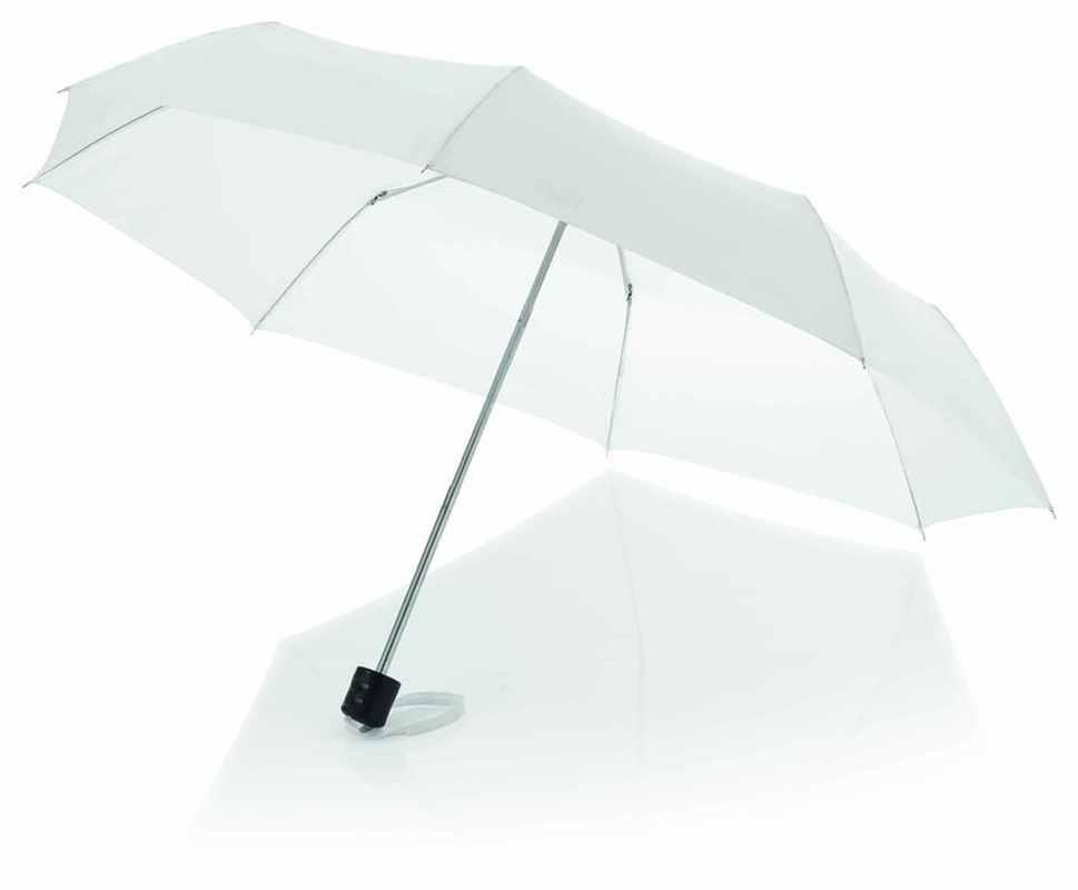 21,5palcový bílý deštník 3sekční
