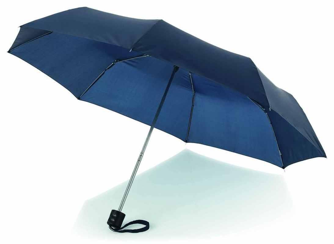 21,5palcový tmavě modrý deštník 3sekční