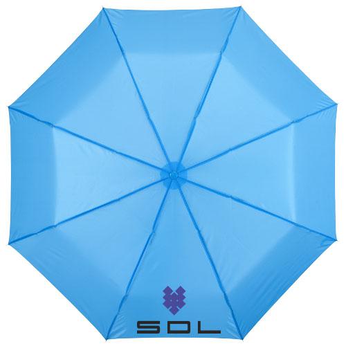 21,5palcový modrý deštník 3sekční