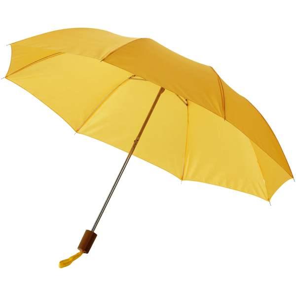 20palcový 2sekční deštník žlutý s potiskem
