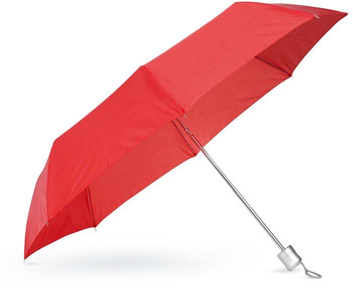 Dámský červený mini deštník v pouzdře